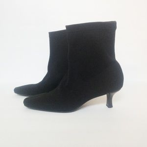 EUC Talbots Kitten Heel Stretch Ankle Boots  6.5